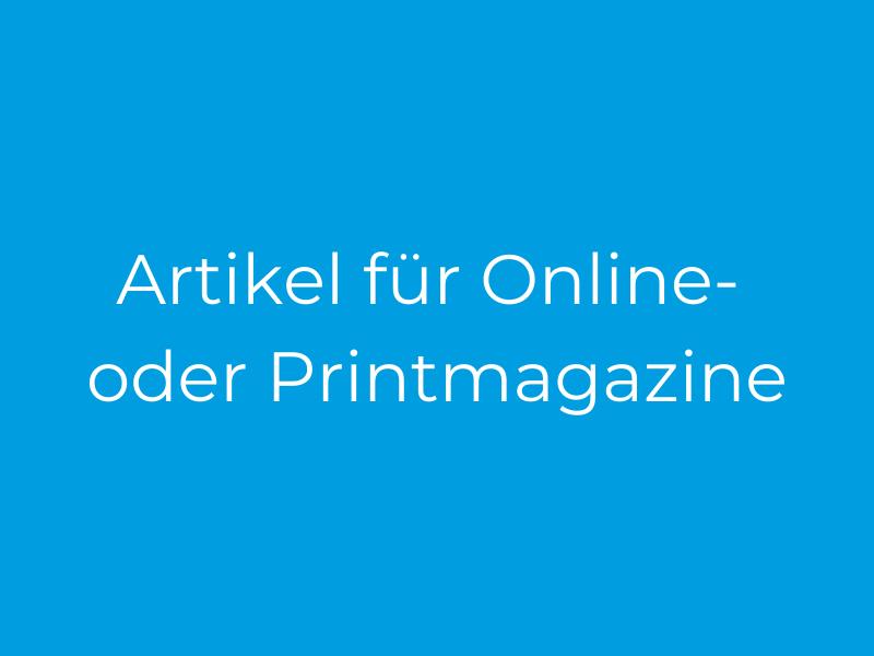 Artikel für Online-Magazine
